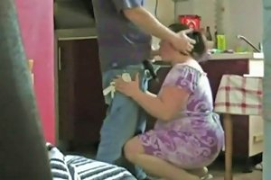 Chubby Housewife Spied With A Teen Boy