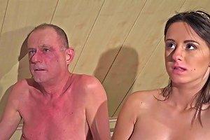 Big Tits Old Young Threesome Grandpa Fucks Beautiful Teen Girls Cum Swap