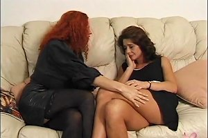 Two Big Breast Mature Babes Suck And Dildo Fuck On Couch